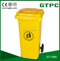 120L wheeled Eco-Friendly Feature and Outdoor Usage pedal plastic garbage bin