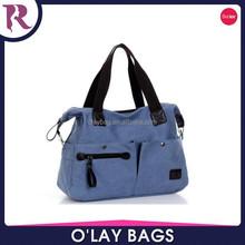 China Wholesale Women canvas shoulder bag lady Beach Handbag Messenger Bag
