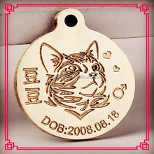Photo etching zinc alloy dog tag with name