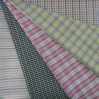 no shiny yarn dyed garment fabric polyester cotton textile fabric