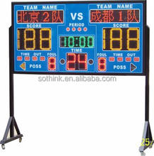 Promotional hanging LED electronic scoreboard with shot clock
