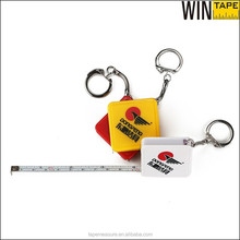 Promotional customized your brand ABS plastic pocket key holder with steel tape measure