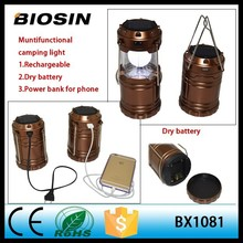 2015 Newest solar lantern camping light wholesale price with power bank ,solar camp lantern
