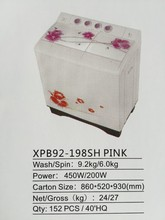Twin tub/semi automatic washing machine XPB92-198SH PINK