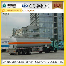 CHINA SINOTRUCK HOWO high quality 45000 liters oil tanker trailer steel tank fuel tank truck lpg gas tank