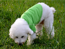 2015 Plain pet dog polo t-shirt / cotton dog clothes with two legs