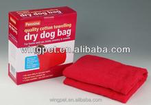 Hot selling cottony dog dry bag ,dog dry towel