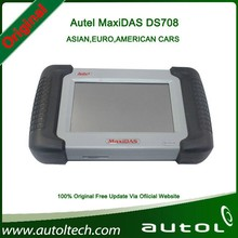 Universal Wireless Scanner Autel MaxiDAS DS708 Support more than 40 kinds of 12V Petrol&Diesel Vehicle from US, Asian and Europe