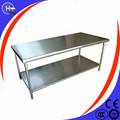 galería de acero inoxidable mesa de la cocina