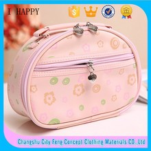 Fashion Three-piece set PU Handbag ladies leather cosmetic bag