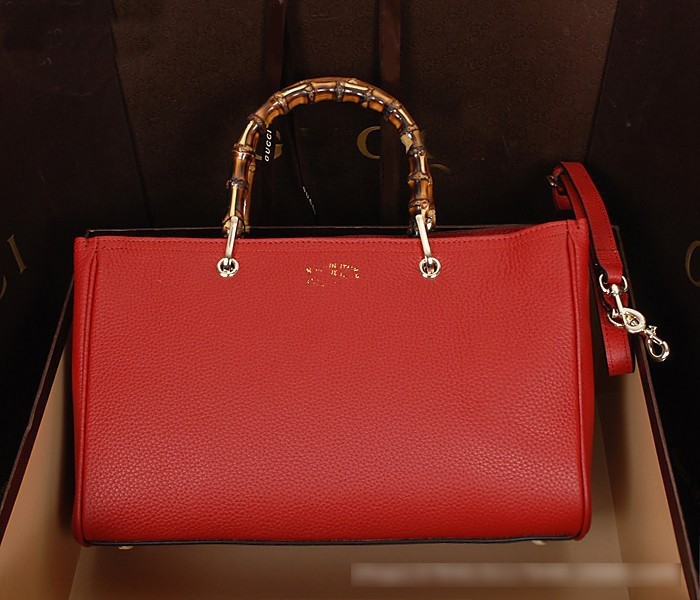 2014 Bamboo Handle Brand Women Leather Handbags Hot Selling Designer