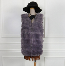 2015 wholesale sex girl or women genuine fake fox fur for vest