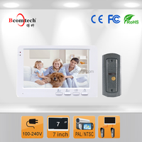 Bcomtech 2015 On Sale 7 inch Cheap Video Door Phone Intercom System
