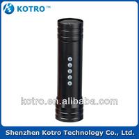 hotsales!! Li-ion battery Aluminum noble sport mini digital speaker portable mini speaker with FM radio / flash light