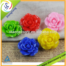 new product resin rose flower resin flower cabochons