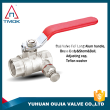 """acs brass ball valves 2"""" brass body with polishing and full port and PN 40 high temperature electric machine with 600 wog nicke"""
