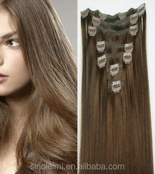 wholesale different weight 100g 120g 160g 220g 260g 100% brazilian hair clip in hair extension