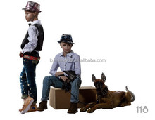 Top quality branded fashion window kids mannequins with hair