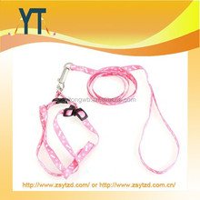 Pet Dog Puppy Cat Kitty Nylon Harness Leash Lead Embroidery