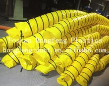 spiral plastic pvc flexible ducting / large diameter pvc pipe