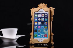 Popular style for yound lady newest silicone photo frame cover for iphone 5s with cosmetic mirror