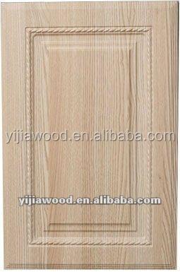 Sapele wood grain pvc film kitchen cabinet doors and for Wood grain kitchen doors