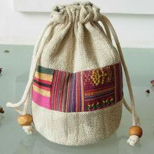 wholesale cotton fabric muslin burlap drawstring bag