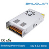 high quality constant voltage Switching power supply with ac input 110/220V dc output 48V 8.3A 400W