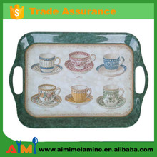 18 inch melamine cup tray with handle