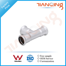 G101 Factory price pipe fitting equal tee stainless compression fitting