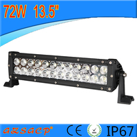 High quality atv led light bar wholesale price 13.5inch 72w led light bar wth CE ROHS IP67