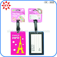 Bulk rubber luggage tags with letter logo