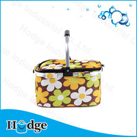 Flower aluminum cooler bag thermal bag insulated foil lining lunch bag