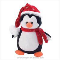 christmas penguin plush toys for 2014 new design baby gifts