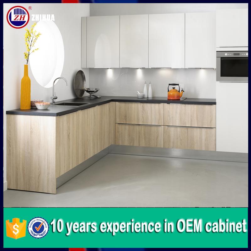 China ready made modular kitchen cabinet design in color for Ready made kitchen cabinets where to find