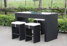 PE rattan bar furniture cheap used bar stool