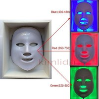 PDT led facial mask for skin rejuvenation beauty equipment skin mask Photon mask Beauty Therapy 3 Colors Lights for home use