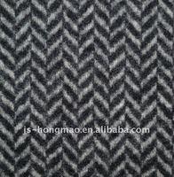 Herringbone Woolen Melton for Coat