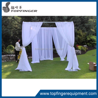 Topfinger factory cheap wedding backdrop poles/used portable pipe and drape /wedding mandap chuppah