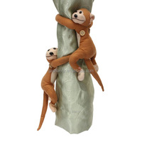 New Arrival Hot Sale 2pcs Monkeys Curtain Buckle Tiebacks Holder Window Drapery Hooks Decoration