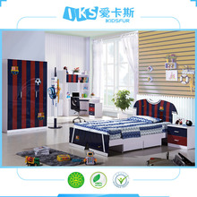high quality sleep mdf bedroom furniture set for child 8350-1