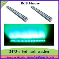 round wall washer 24*3w led stage lights