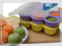 Baby Food Storage Made Safe & Simple! Original Freezer Tray With a Silicone Clip-On Lid
