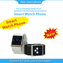 2013 new Android watch phone dual core 1.0GHz Android 4.0 GSM Smart phone watch with touch screen wifi