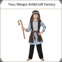 Promoção de alta qualidade Cosplay criança pastor camponês traje