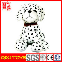 2014 popular stuffed toy plush white spotted dog