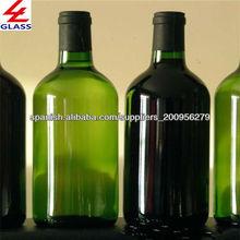 vidrio botella de vino con diseño de la variedad