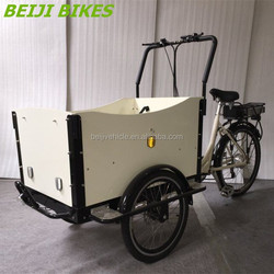 Aluminium alloy frame three wheel electric triporteur electrique cargo