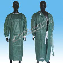 Disposable surgical gown,blue,PE,PP,SMS
