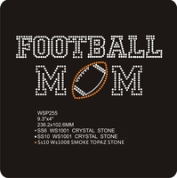 Luxury Crystal Football Mom Sports Design Iron On Transfer Software For Clothing